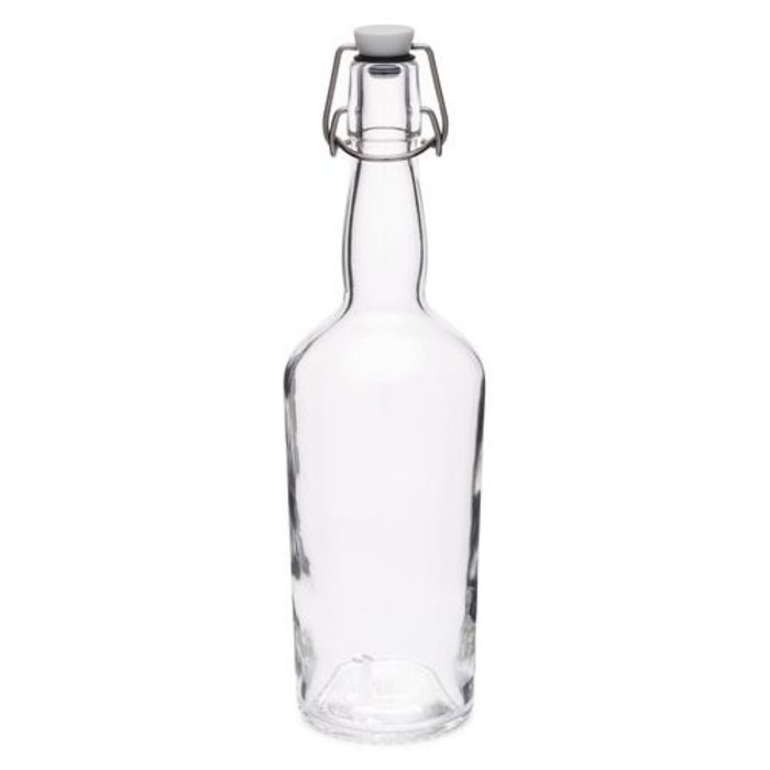 Clear Glass Swing Bottles w/ Gasket Sealer, 750 ml