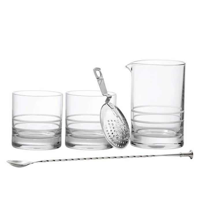 Crafthouse Mixing Glass Set, Glass & Stainless Steel