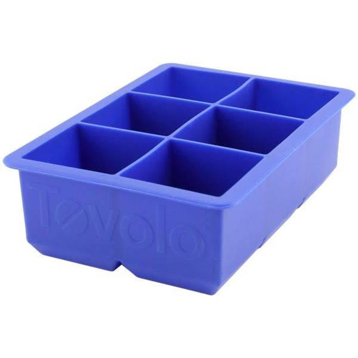 Tovolo King Cube 2x2 Ice CubeStratus Blue