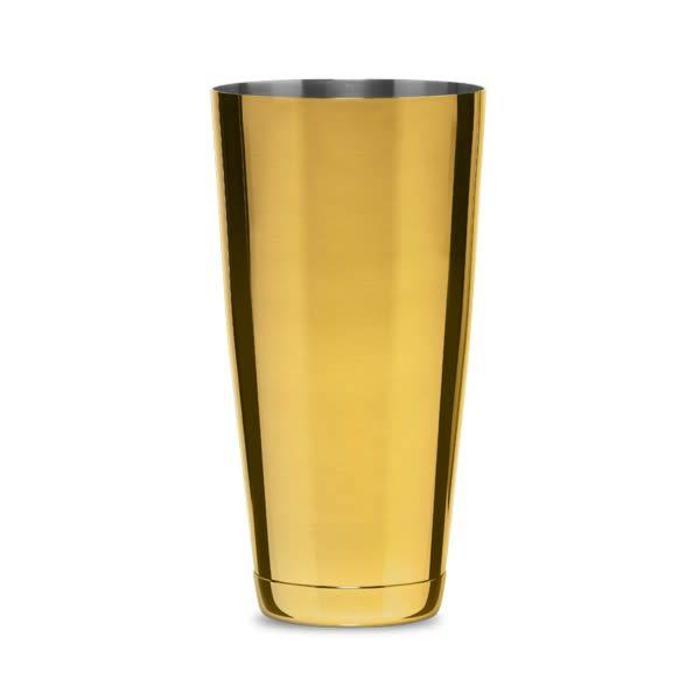 Koriko Large Weighted Shaking Tin, 28oz Gold-Plated