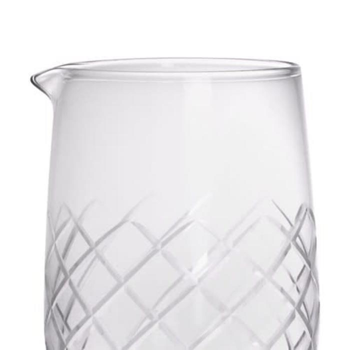 Stemmed Diamond Pattern Mixing Glass, 30 oz.