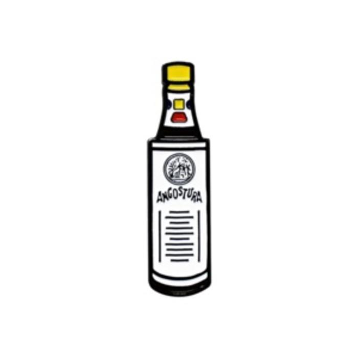 Angostura Bottle Pin, Enamel