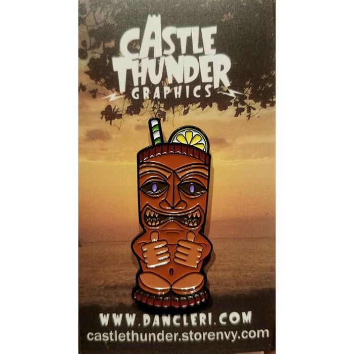 Cool Tiki Mug Pin, Enamel