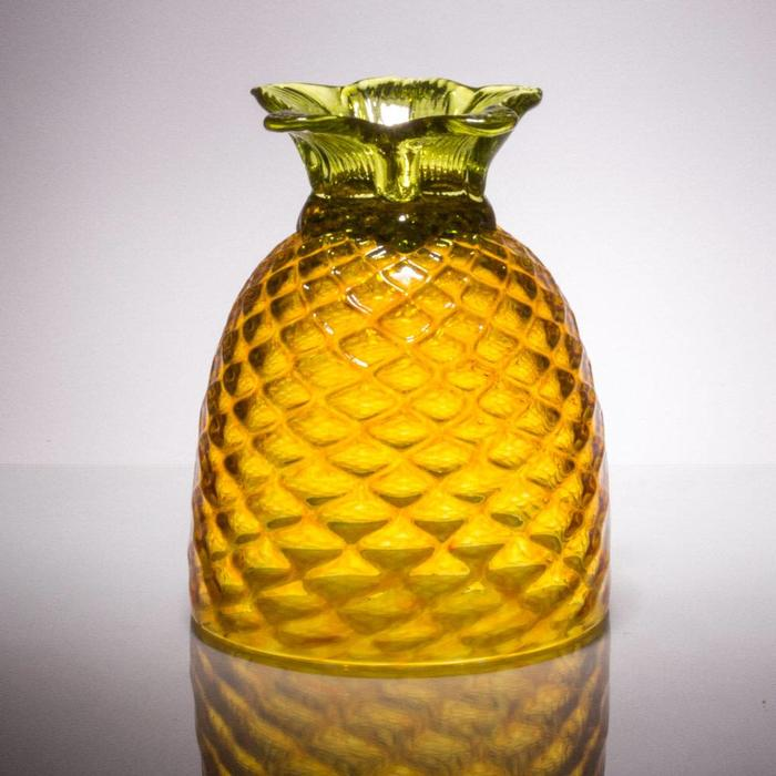 Hand Blown Coppa de Pina, Gold 32oz
