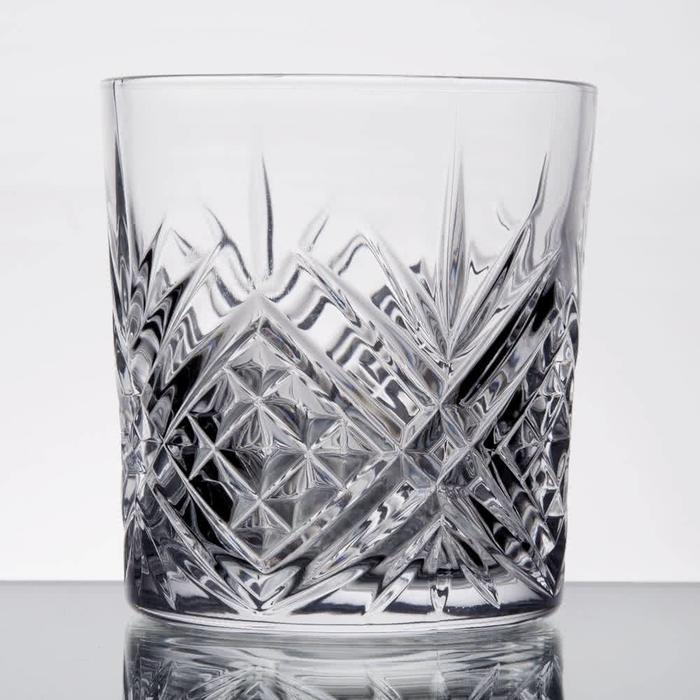 Old Fashioned Glass, Pineapple Design 10.5oz.