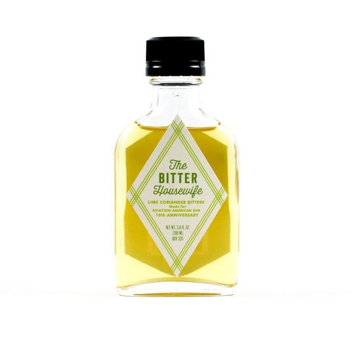 The Bitter Housewife Lime & Coriander Bitters, 100ml.
