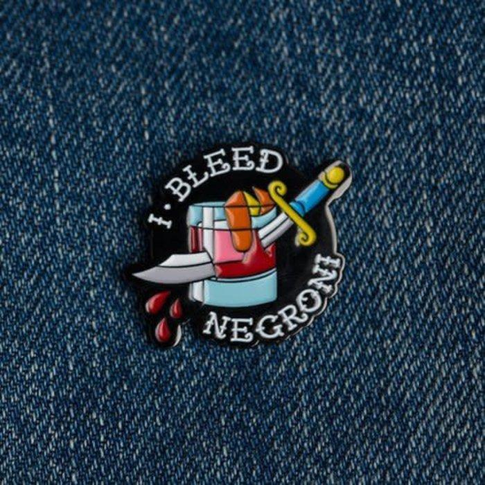 Love & Victory I Bleed Negroni Pin
