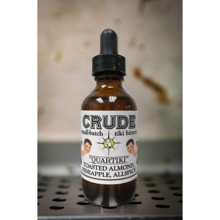 "Crude ""QuarTiki"" Toasted Almond, Pineapple, and Allspice Bittes, 2oz"