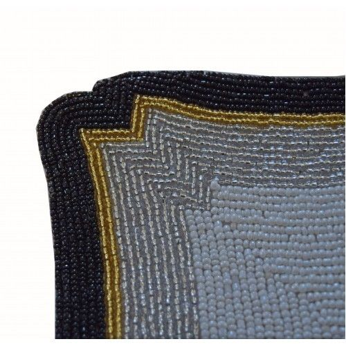Black Glass Beaded Placemats