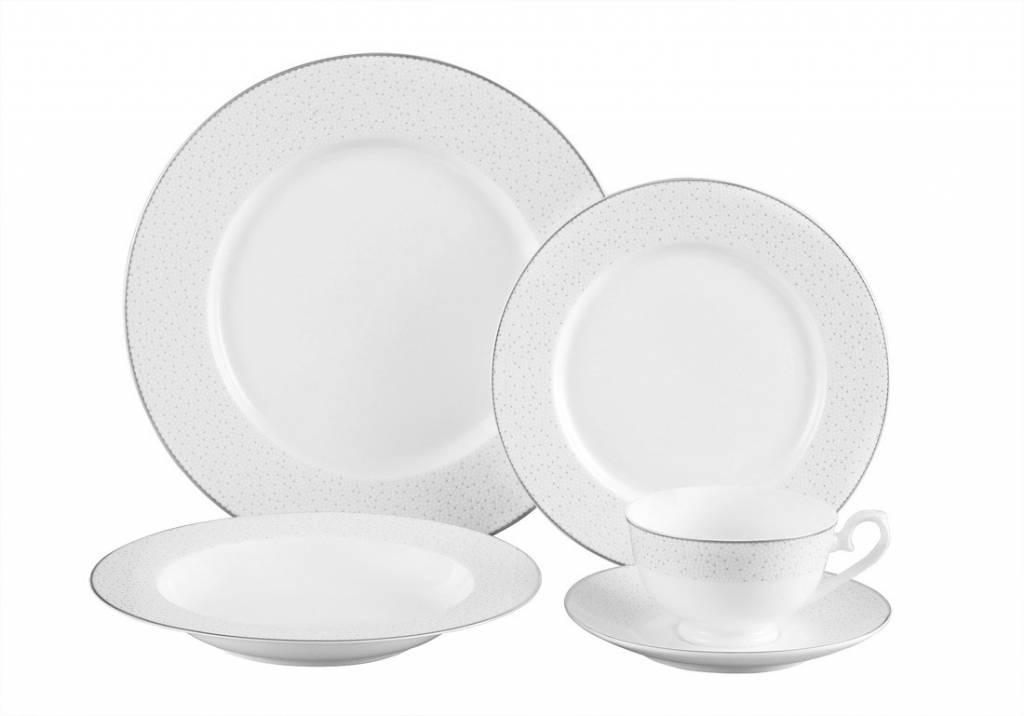 Stardust platinum 20 pc Dinnerware Set  sc 1 st  Timeless Table & Stardust platinum 20 pc set - Timeless Table