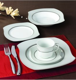 Wave Grey 57 pc Dinnerware set & Dinnerware sets - Timeless Table