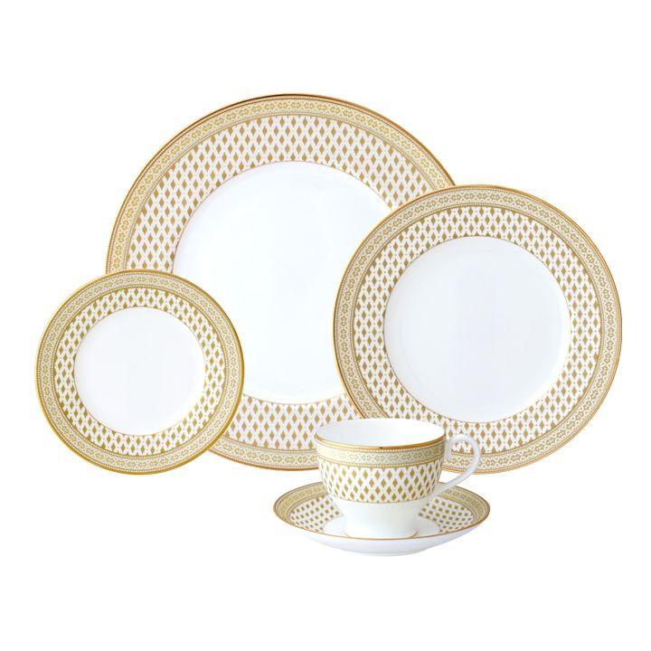 Nikko Granada Gold 5 pc Dinnerware Set  sc 1 st  Timeless Table & Nikko Granada Gold 5 pc Dinnerware Set - Timeless Table