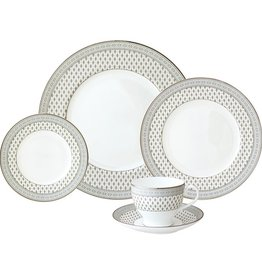 Nikko Granada silver 5 pc Dinnerware Set  sc 1 st  Timeless Table : antique dinner plate - pezcame.com