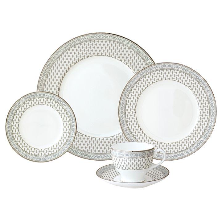 Nikko Granada silver 5 pc Dinnerware Set  sc 1 st  Timeless Table & Nikko Granada silver 5 pc Dinnerware Set - Timeless Table