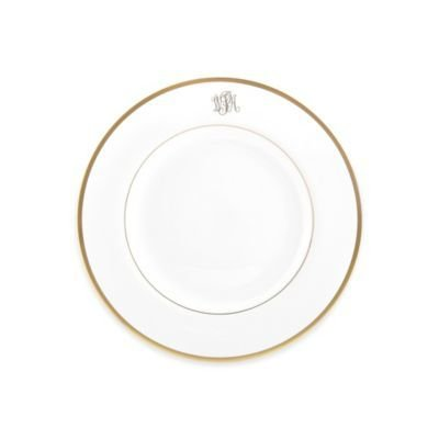 Pickard china Signature Monogrammed salad plate ...  sc 1 st  Timeless Table : pickard dinnerware - pezcame.com