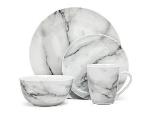 Carrera Marble Dinnerware Service for 4