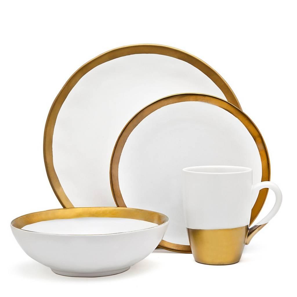 Terre Gold Dinnerware set of 4 - Timeless Table