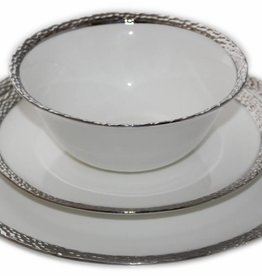 Imperial Hammered Silver Edge s/6 Dinnerware Set  sc 1 st  Timeless Table & Dinnerware sets - Timeless Table