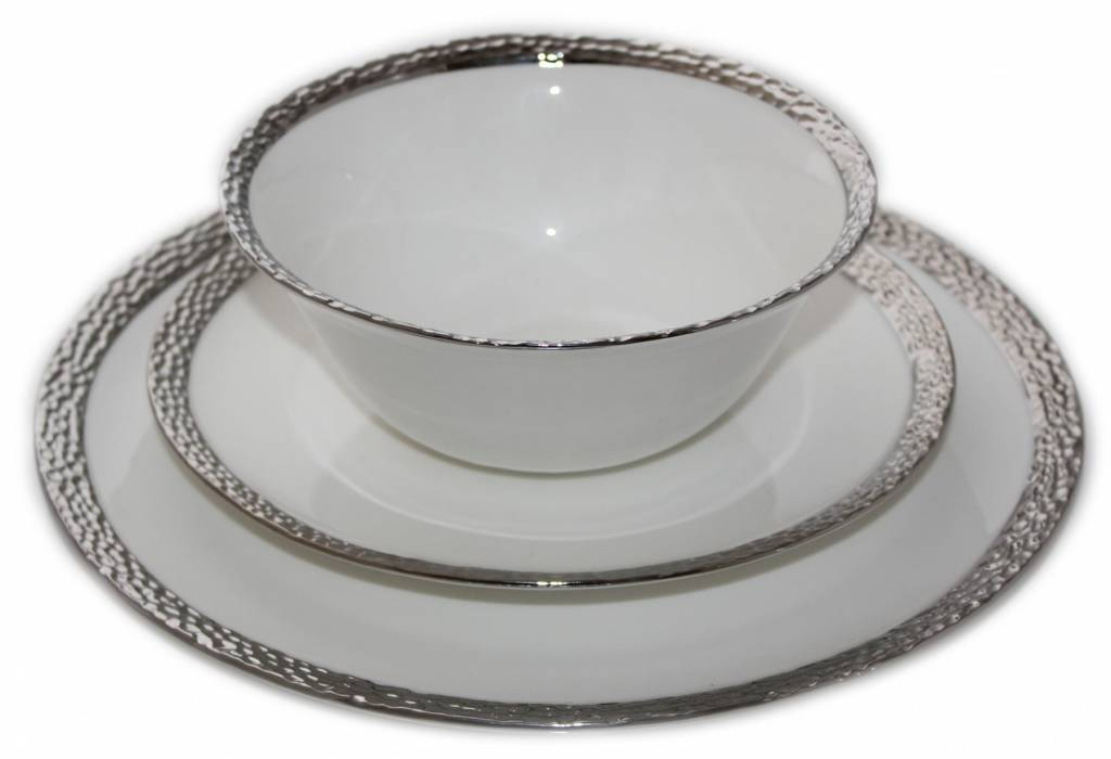 Imperial Hammered Silver Edge s/6 Dinnerware Set ...  sc 1 st  Timeless Table & Imperial Hammered Silver Edge s/6 - Timeless Table