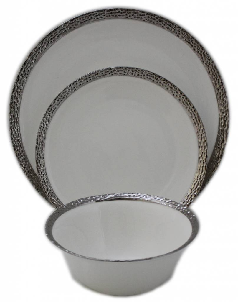 ... Imperial Hammered Silver Edge s/6 Dinnerware Set  sc 1 st  Timeless Table & Imperial Hammered Silver Edge s/6 - Timeless Table
