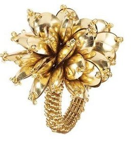 bodrum Mineral Bloom Gold Napkin Rings