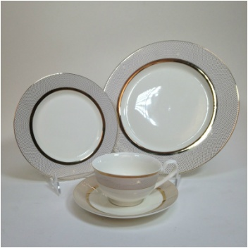 Confetti Gold 20 pc Dinnerware set & Confetti Gold 20 pc Dinnerware set - Timeless Table