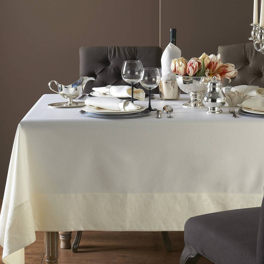 Mode Living Geneva Cream Tablecloth 70 X 144 ...