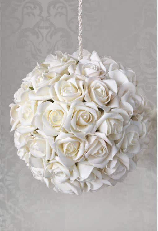 White foam flower ball 8 timeless table white foam flower ball 8 mightylinksfo