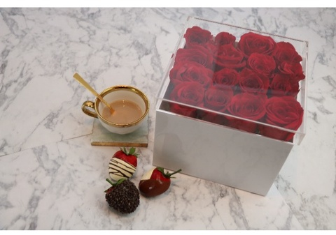 16 white acrylic rose box w clear lid timeless table 16 white acrylic flower box w clear lid mightylinksfo