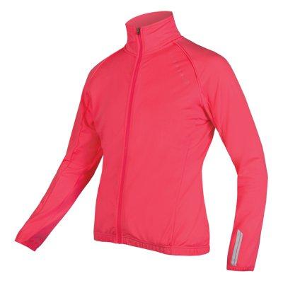 Endura Wms Roubaix Jacket, Hi Vis Pink :L