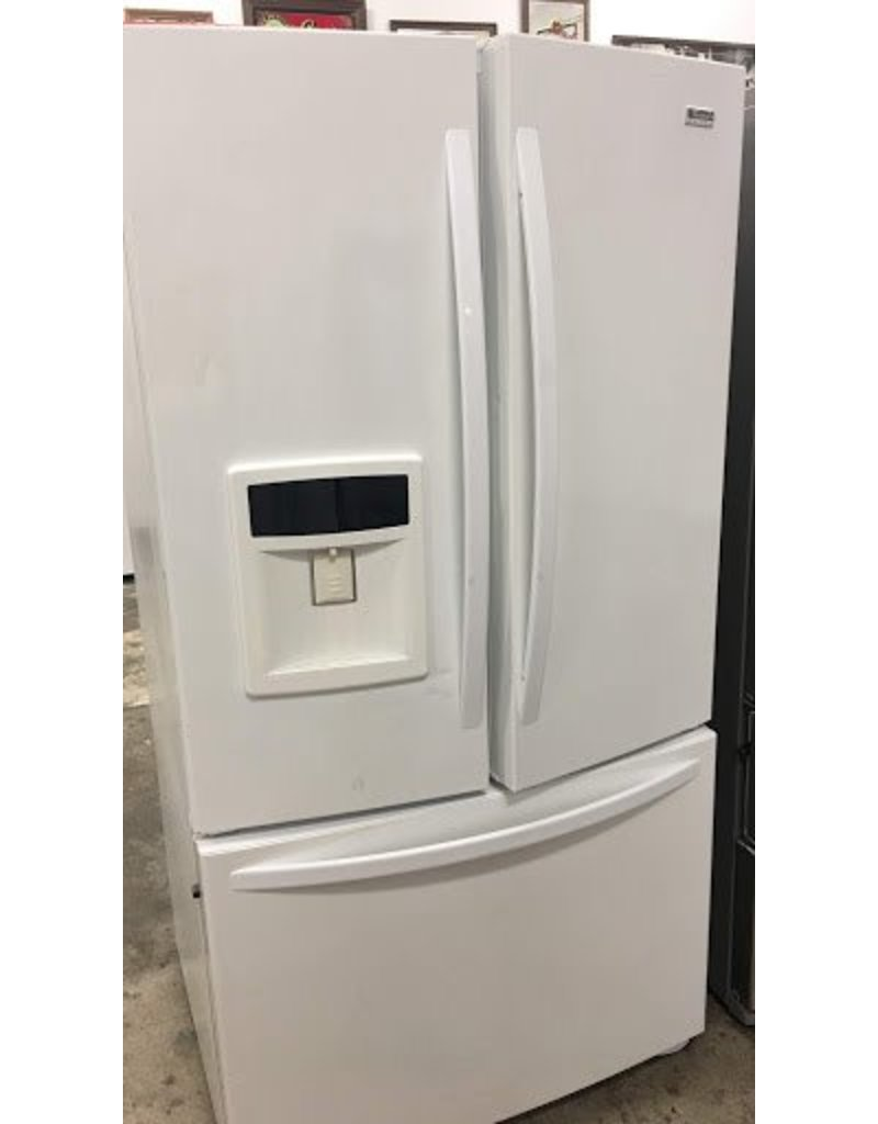 KENMORE ELITE KENMORE ELITE WHITE FRENCH DOOR FRIDGE W/ICE U0026 WATER  DISPENSER ...