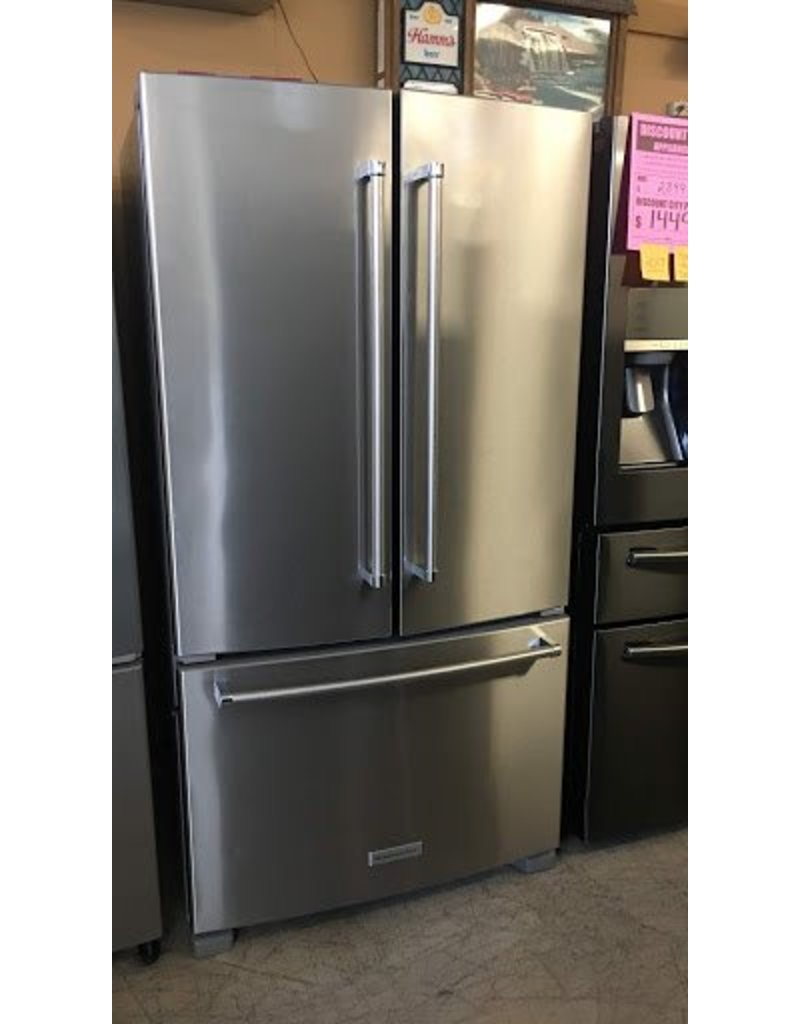 Merveilleux KITCHENAID COUNTER DEPTH KITCHENAID STAINLESS FRENCH DOOR FRIDGE W/WATER  INSIDE ...