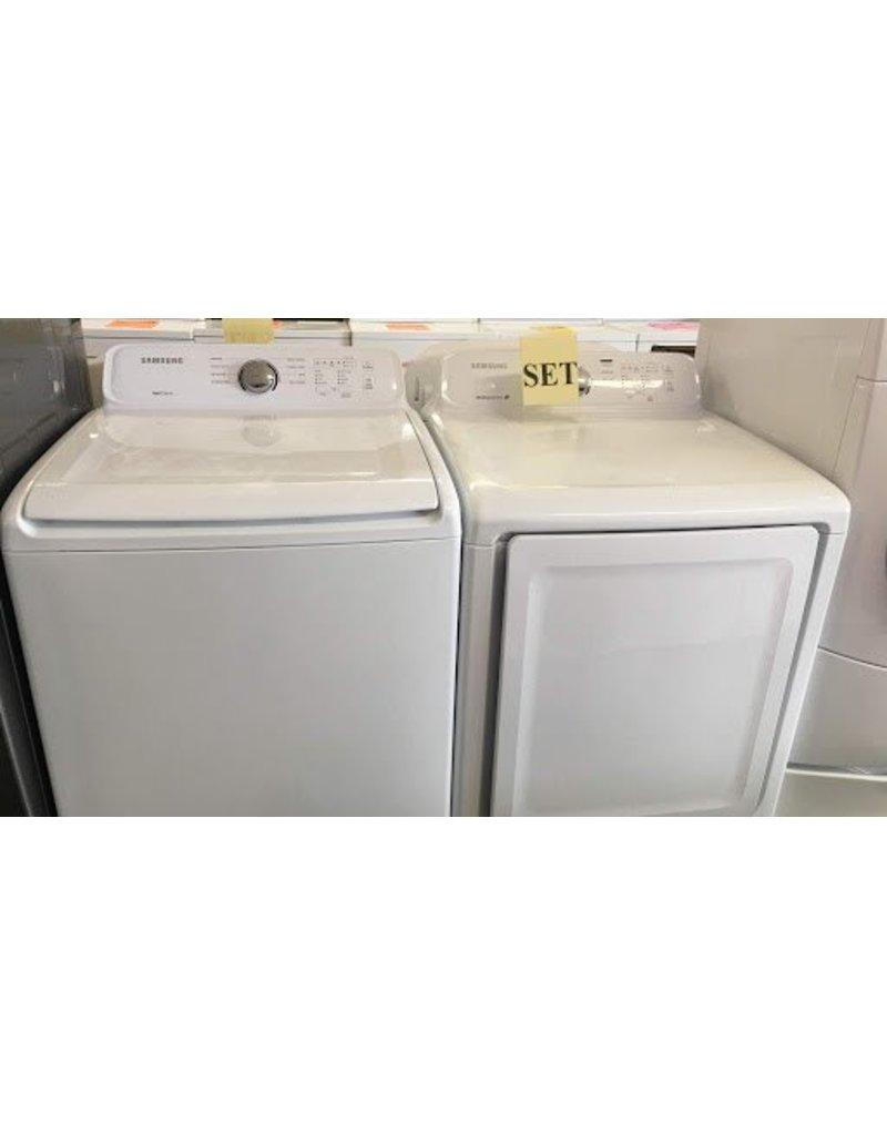 Samsung Self Clean Top Load Washer W O Agitator Moisture Sensor Dryer
