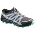Salomon Speedtrak Womens Dark Cloud/Light Onix/Bubble Blue