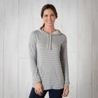Profundo Hooded Tunic Womens Heather Grey Stripe