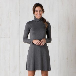 Toad & Co Winterdance  Dress Womens Charcoal Heather