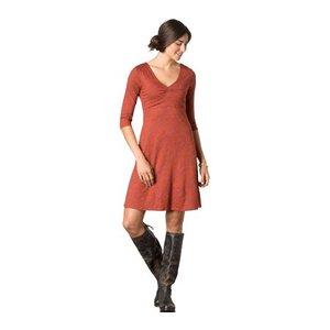 Rosalinda Dress Womens Dark Chestnut Tribal Print