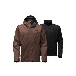The North Face MEN'S CANYONLANDS TRICLIMATE JACKET Coffee Bean Brown