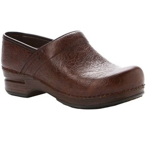 Dansko Women's Pro XP Brown Floral Tooled