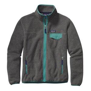 Patagonia W's Full-Zip Snap-T Jkt Nickel w/Mogul Blue