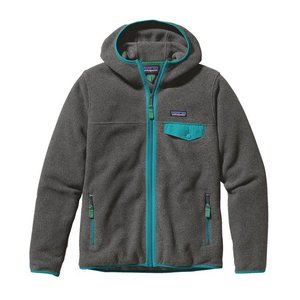 Patagonia W's LW Snap-T Hooded Jkt Nickel w/Epic Blue