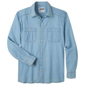 Mountain Khakis Men's Ace Indigo Long Sleeve Shirt  Light Indigo