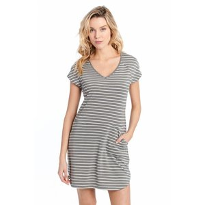 Lole ENERGIC DRESS WHITE STRIPE