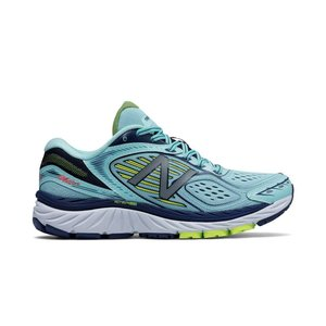 New Balance W860v7 Ozone Blue with Lime Glo