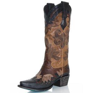 Lane Women's Maggie Western Boot, Black