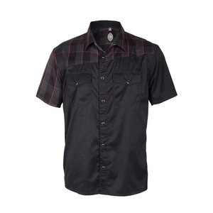 Club Ride Bolt Men's Short Sleeve Snap Down Top Raven Plaid