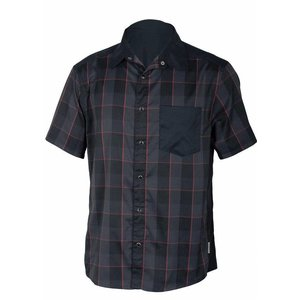 Club Ride New West Men's Short Sleeve Snap Down Top Raven Plaid