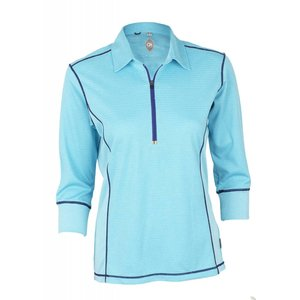 Club Ride Hermosa 3/4 Women's Pullover 3/4 length Sleeve Top Maui Blue