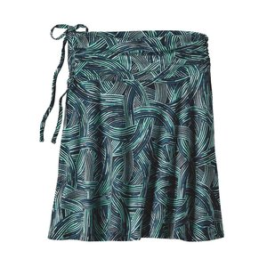 Patagonia W's Lithia Skirt River Rush: Ink Black