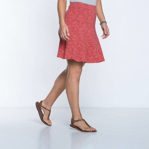 Toad & Co CHACHACHA SKIRT SPICED CORAL GEO PRINT